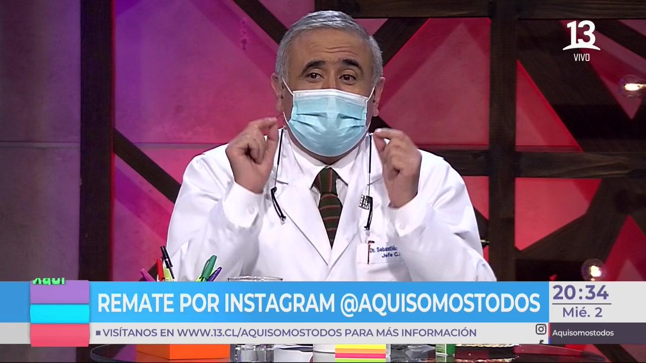 """Dr. Ugarte sacó carcajadas de Ángeles con """"picarón"""" consejo sobre las  mascarillas"""