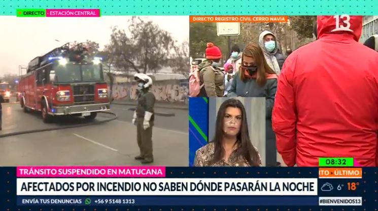 Incendio en cité de Estación Central deja al menos 60 damnificados
