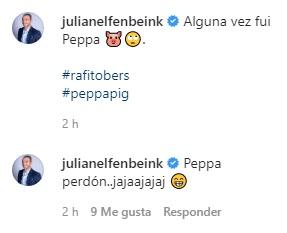 Julián Elfenbein comete error al compartir foto con su hija