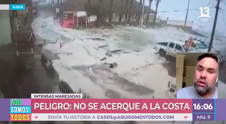 Alerta por intensas marejadas en todo el sector costero del país