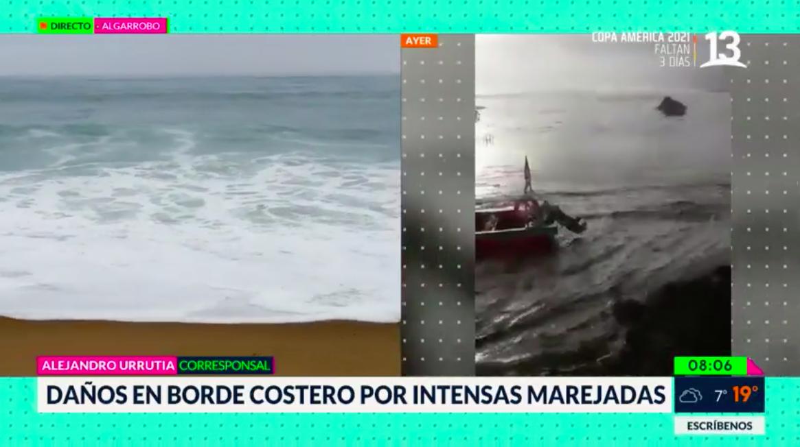 Olas de hasta 10 metros afectan al borde costero