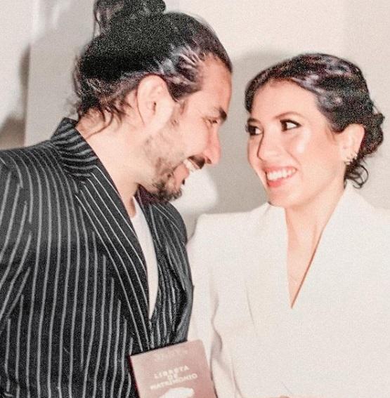 Felipe Avello se casó en ceremonia con aforo limitado