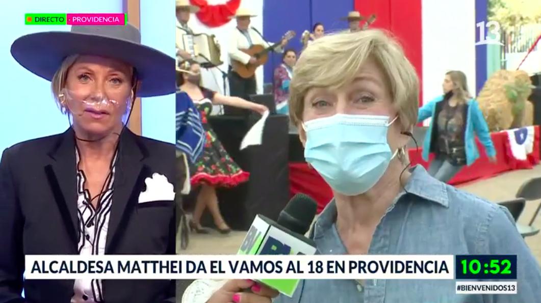 Alcaldesa Matthei da el vamos a las celebraciones en Providencia
