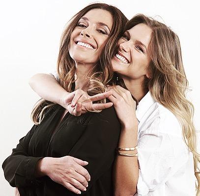 Mayte Rodríguez y su mamá
