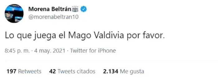 Daniela Aránguiz ataca a periodista por tuit sobre su marido
