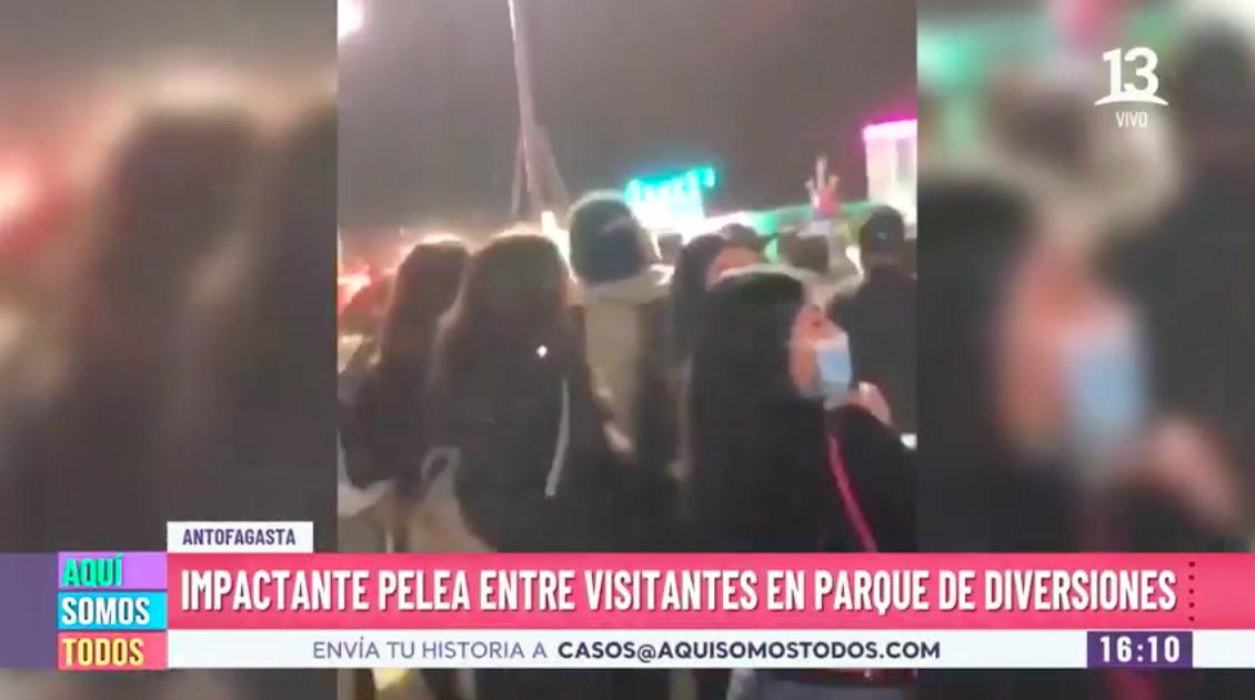 Impactante pelea en parque de diversiones de Antofagasta