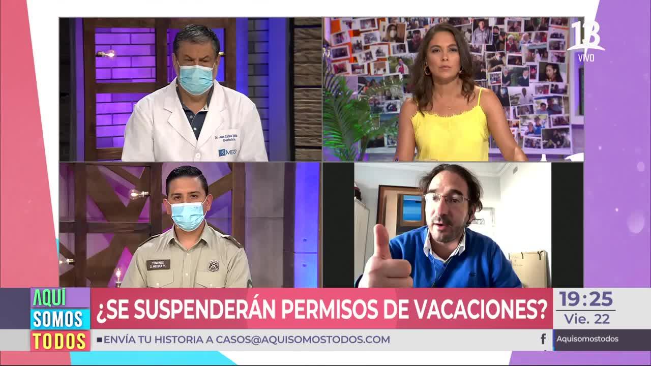 ¿Se suspenderán los permisos de vacaciones?