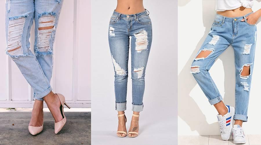 Mari Almazabar Trae De Regreso La Moda De Los Jeans Rasgados