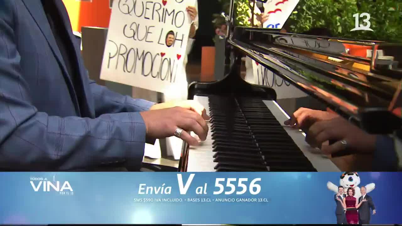 Sergio Lagos interpretó al piano clásico tema de Francis Cabrel
