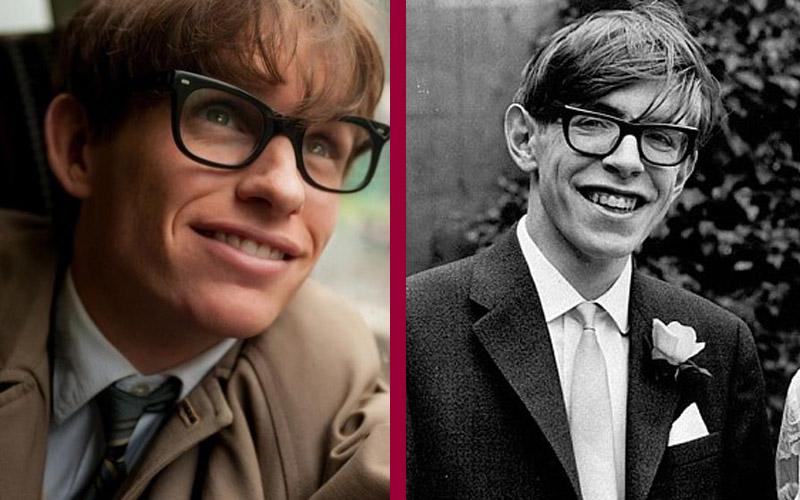 Eddie Redmayne - Stephen Hawking actores similares a sus personajes