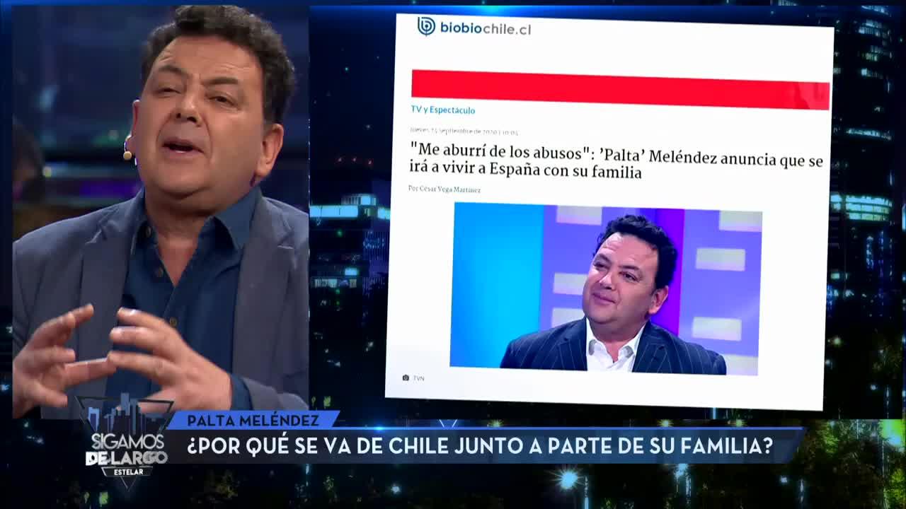Palta Meléndez aclara la verdad sobre su partida de Chile