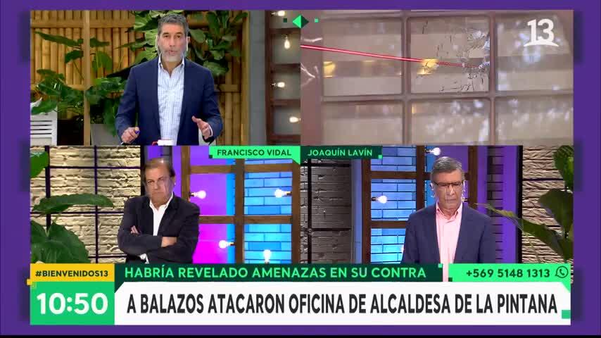 Lavín por bala que llegó a oficina de Pizarro