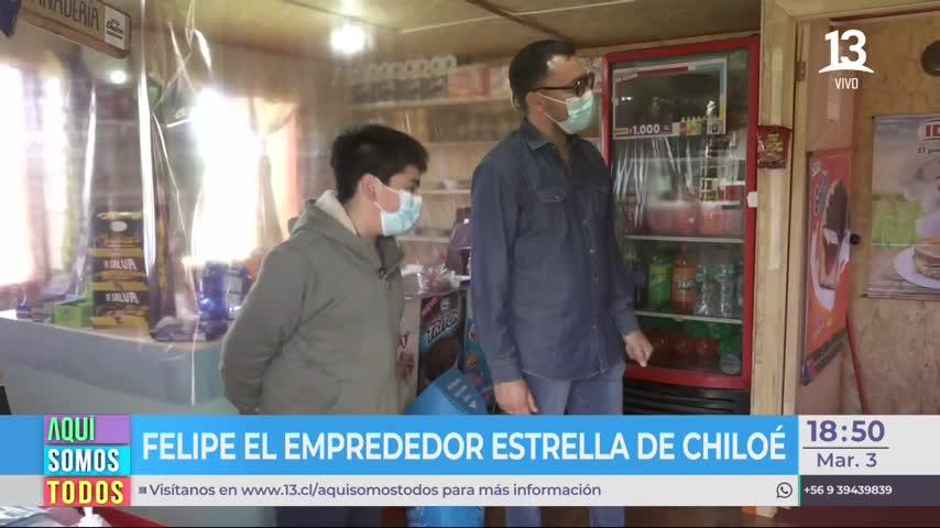 Joven de 16 años tiene su propio almacén en Chiloé