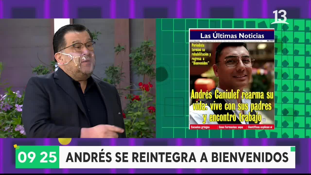 """""""Es volver a la casa"""": Andrés Caniulef se reintegra a """"Bienvenidos"""""""