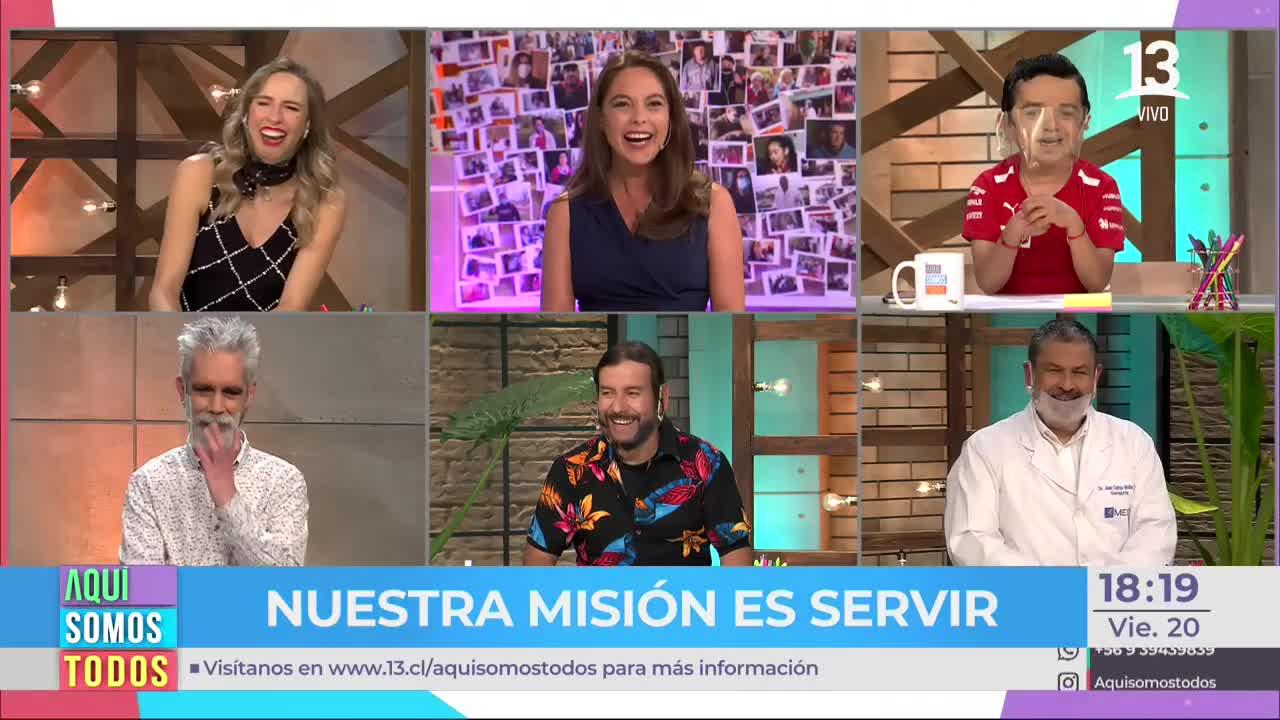 """Miguelito sorprende con reacción al inicio de """"Aquí somos todos"""""""