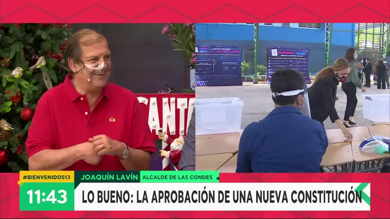 """Joaquín Lavín eligió el """"apruebo"""" como lo mejor del 2020"""