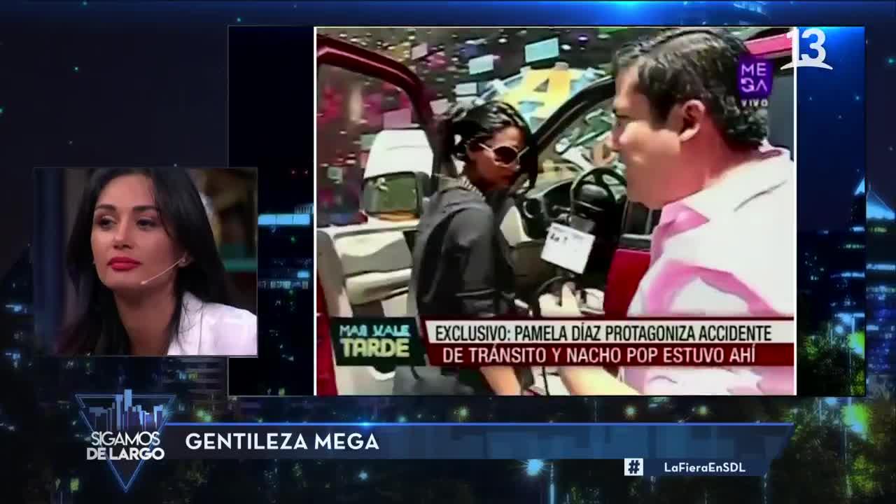 Pamela Díaz habló de cuando chocó por culpa de Nacho Pop