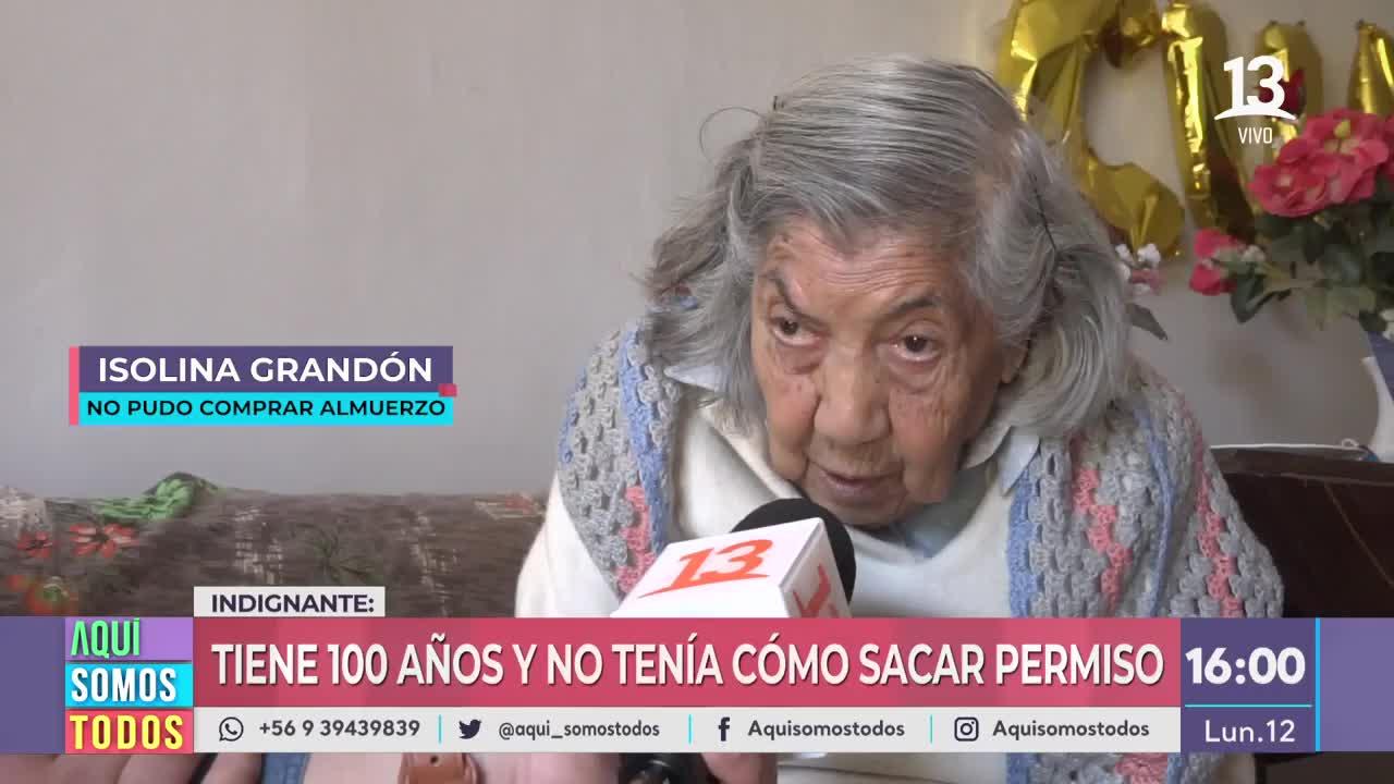 Mujer de 100 años supermercado