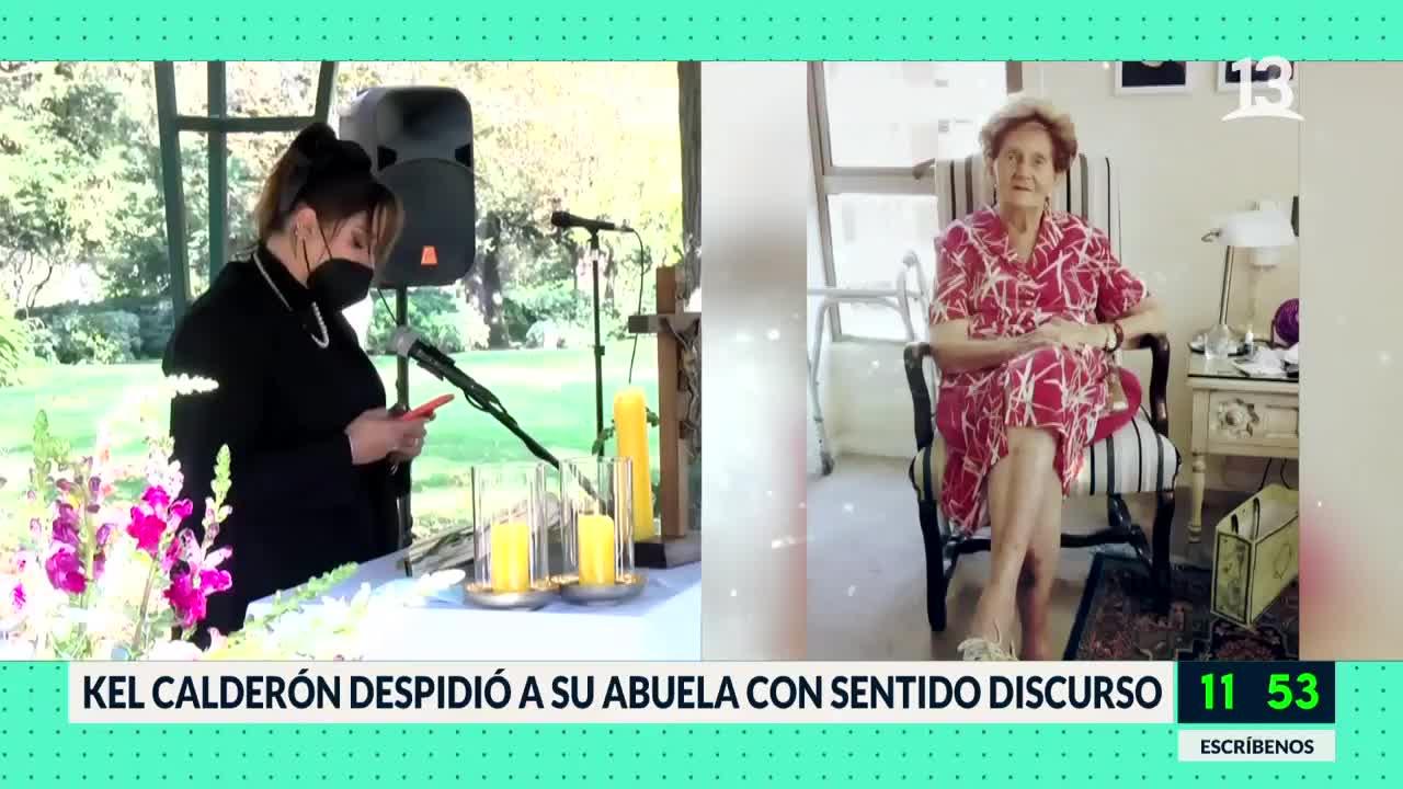 Kel Calderón despidió a su abuela con sentido discurso