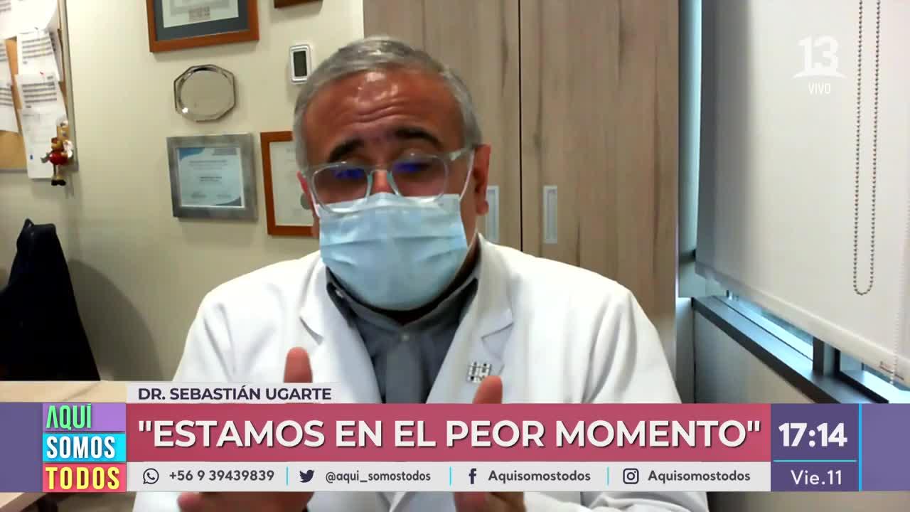 """Dr. Ugarte: """"Nos quedan dos de los meses más duros de toda esta pandemia"""""""