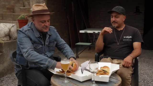 Marcelo Cicali probó por primera vez hamburguesa con erizos