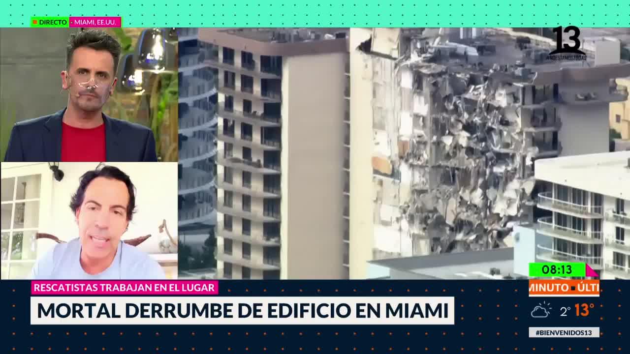 Mortal derrumbe de edificio en Miami