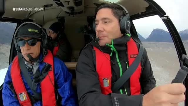Pancho Saavedra y el equipo volaron sobre los Campos de Hielo Norte