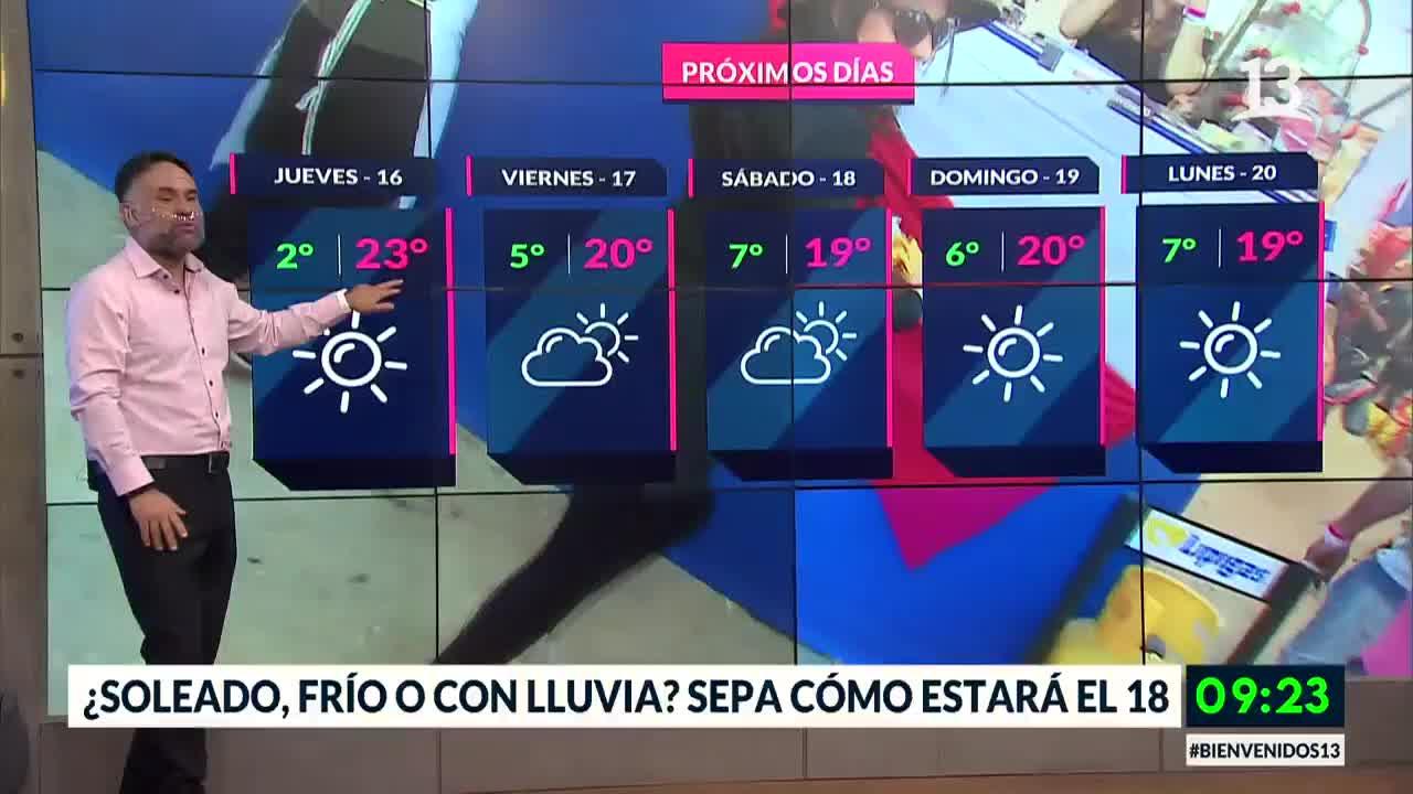 ¿Soleado, frío o con lluvia? Sepa cómo estará el tiempo este 18