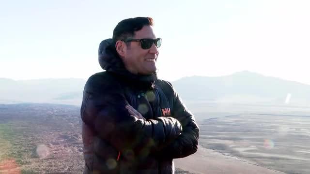 Pancho Saavedra y el equipo del programa subieron el volcán La Poruña