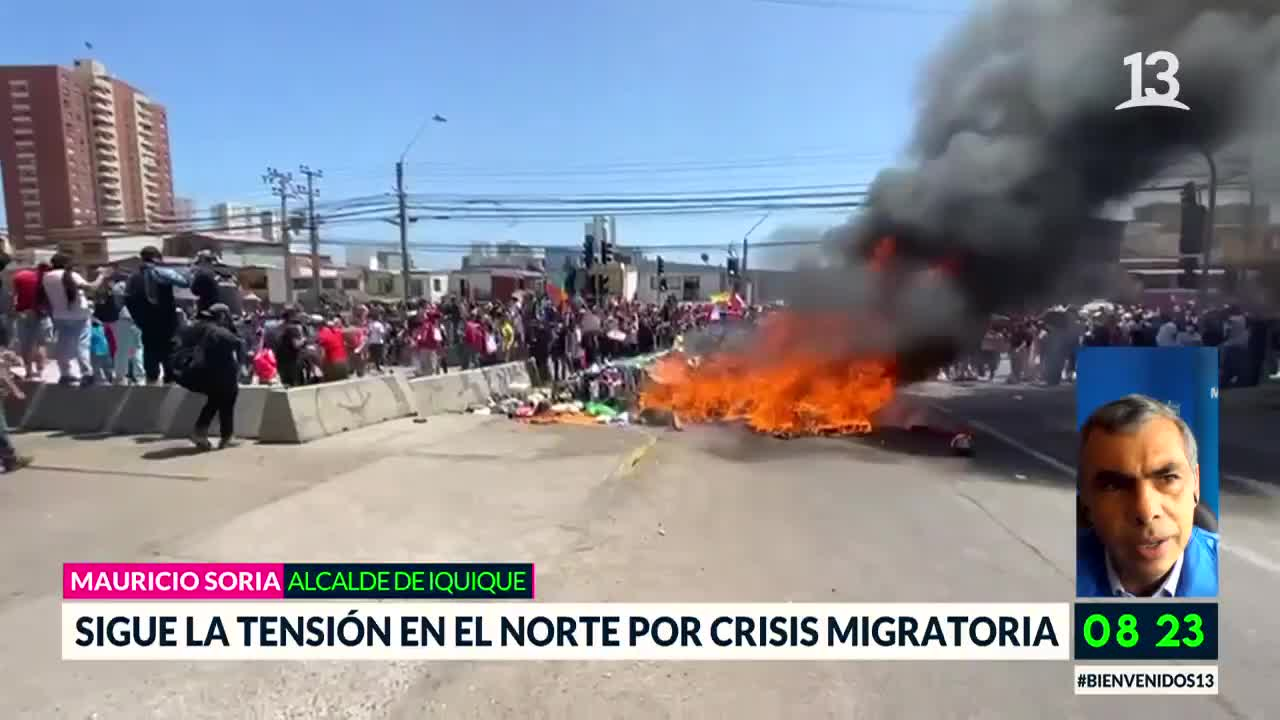 Alcalde de Iquique se refirió a tensión por crisis migratoria