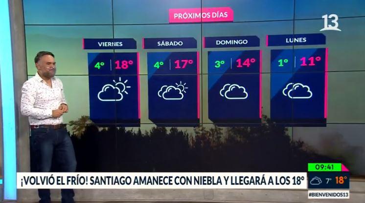 Vuelve el frío: Conoce el pronóstico para los próximos días