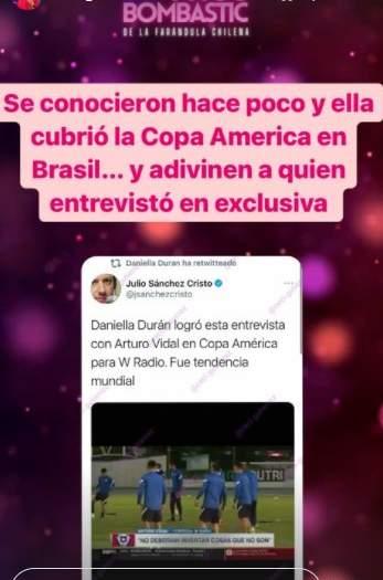 Arturo Vidal aclara su relación con periodista colombiana