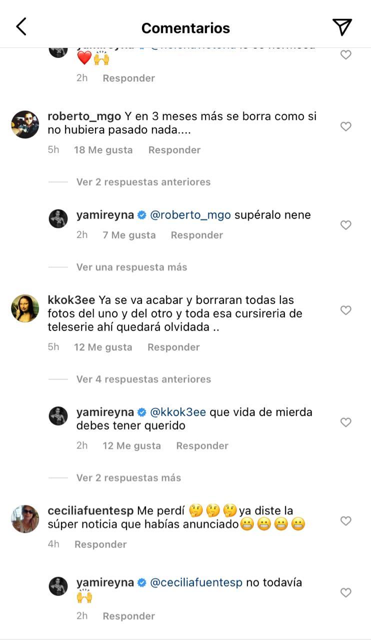 Comentarios a Yamila Reyna