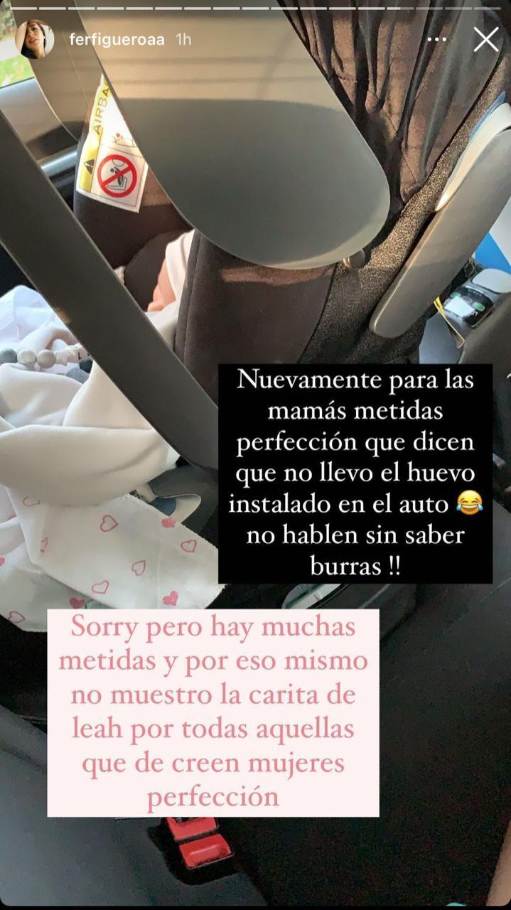 Fer Figueroa muestra su figura a dos semanas de dar a luz