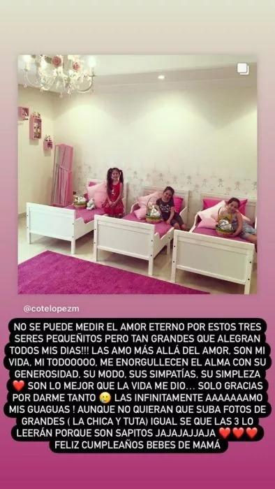 Coté López responde a críticas por decoración del cumpleaños de sus hijas