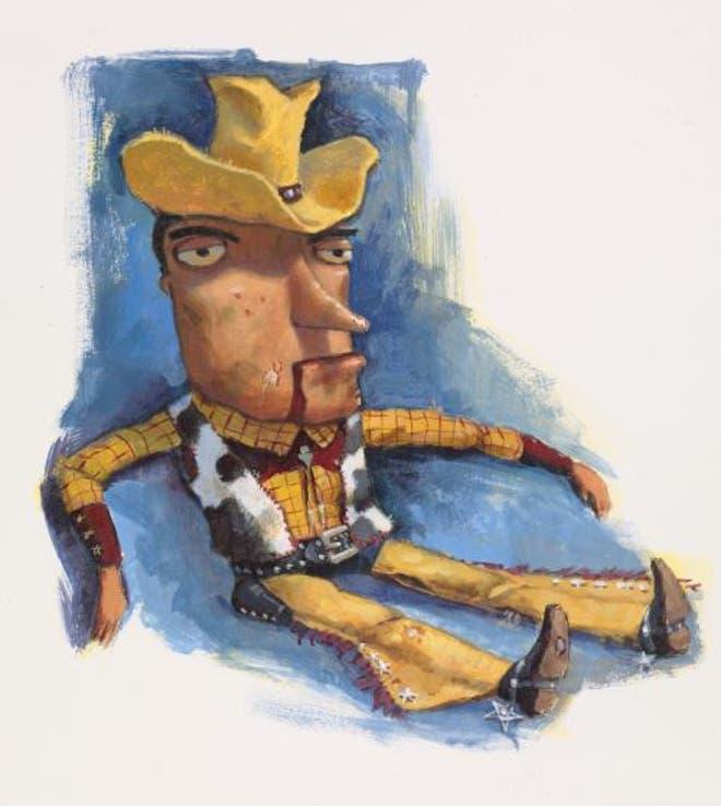 Primer boceto de Woody en Toy Story