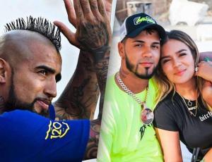 Arturo Vidal comparte foto junto a Anuel AA y Karol G