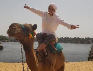 Las increíbles fotos de Kenita Larraín en sus vacaciones en Egipto