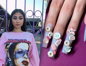 Uñas XL y extravagantes: La tendencia que trajo Paloma Mami a Chile