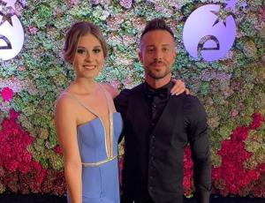 El look de Yadranka Tomic y Bruno Galassi en su estreno en la Gala de Viña