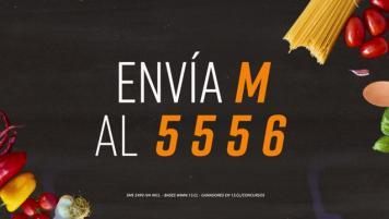Concurso SMS - Sé un maestro de cocina en el 13!