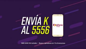 """Envía """"K"""" al 5556 y participa por entradas para KidZania en Bienvenidos!Envía """"K"""" al 5556 y participa por entradas para KidZania en Bienvenidos! 1 y 2 de noviembre DE 2018 (ganadores serán publicados en www.13.cl/concursos)."""