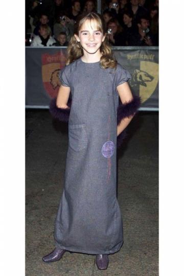 Así la conocimos todos. Emma Watson, 11 años, en el estreno de Harry Potter y la Piedra Filosofal en 2001.