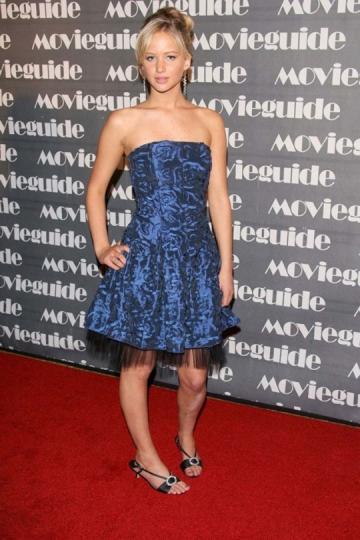 ¿Katniss Everdeen? JLaw con 16 años en los premios de Movieguide en 2007.