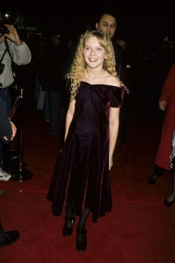 ¡Sólo 12 años! Kirsten Dunst en el estreno de