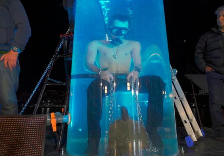 Jean Paul se sometió a prueba extrema bajo el agua