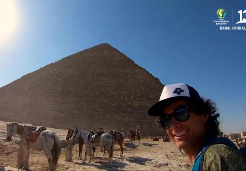 Claudio  cerró la temporada en las pirámides de Egipto