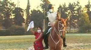 Periodista de Bienvenidos se lució bailando cueca junto a Cuadro Verde de Carabineros