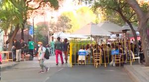 Comerciantes y vecinos indignados por destrozos en Lastarria