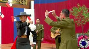 Raquel Argandoña se lució bailando cueca en Bienvenidos